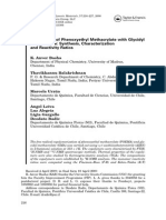 Copolymers of Phenoxyethyl Methacrylate With Glycidyl Methacrylate Synthesis, Characterization and Reactivity Ratios