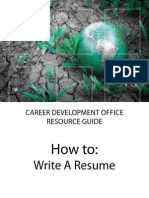 Resume Job Search Guide