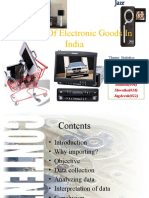 Imports of Electronic Goods in India