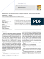 Optimization and design of energy transport system for solar cooking application