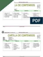 Cartilla de Contenidos 3ero, 4to. y 5to. Secundaria
