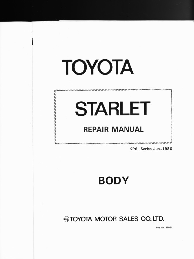 toyota starlet kp6 series body style wiring diagrams rh scribd com toyota glanza fuse box diagram toyota starlet fuse box location