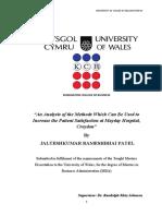 Dissertation on Patient Satisfaction
