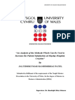 Dissertation on Patient Satisfaction
