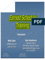 Earned Schedule Training IIPM 2005 Lipke & Henderson