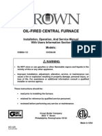 Oil Furnace Installation Manual