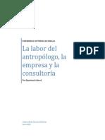 El antropólogo, la empresa y la consultoría