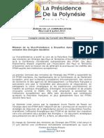 Compte Rendu Du Conseil Des Ministres - Mercredi 8 Juillet 2015