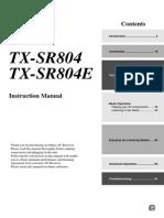 TX-sr804 Manual e