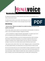 Find Your Voice Lección 1 español