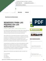 Remedios para las piedras en los riñones!!! - Iremedios.pdf