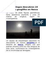 Arqueólogos Descubren 24 Nuevos Geoglifos en Nasca