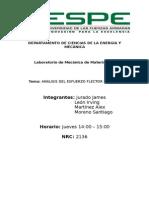 Analisis Del Esfuerzo Flector en Vigas