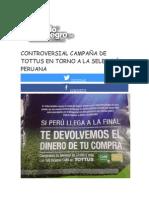 Controversial Campaña de Tottus en Torno a La Selección Peruana