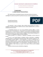 Adresa Barouri Privind Procedura de Inscriere La Examen