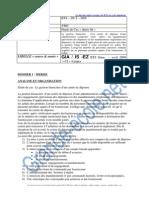 Bts Informatique Développeur d'Application Etude de Cas Gia 2009