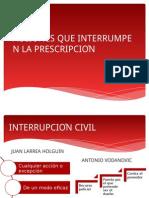 Acciones Que Interrumpen La Prescripción