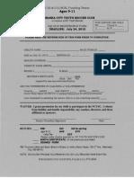U9-11 Soccer Form