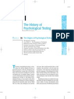 History of Psych Testing