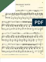 Danza Hungara No. 5 piano violin