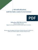 Rapport Sur La Deradicalisation Outil de Lutte Contre Le Terrorisme