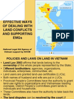 EFFECTIVE WAYS OF DEALING WITH LAND CONFLICTS AND SUPPORTING EMGs