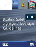 Boating Safety Signage and Buoyage Guidelines