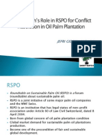 Sawit Watch's Role in the Round-table for Sustainable Palm Oil for Conflict Resolution in Oil Palm Plantation