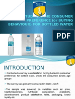 consumer behavior of bottled water