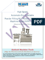 Automatic Dry Powder Filling Machine