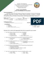 Puregold Talavera Questionnaire 2