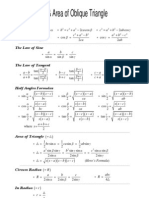 Fsc Area Triangle Formulas