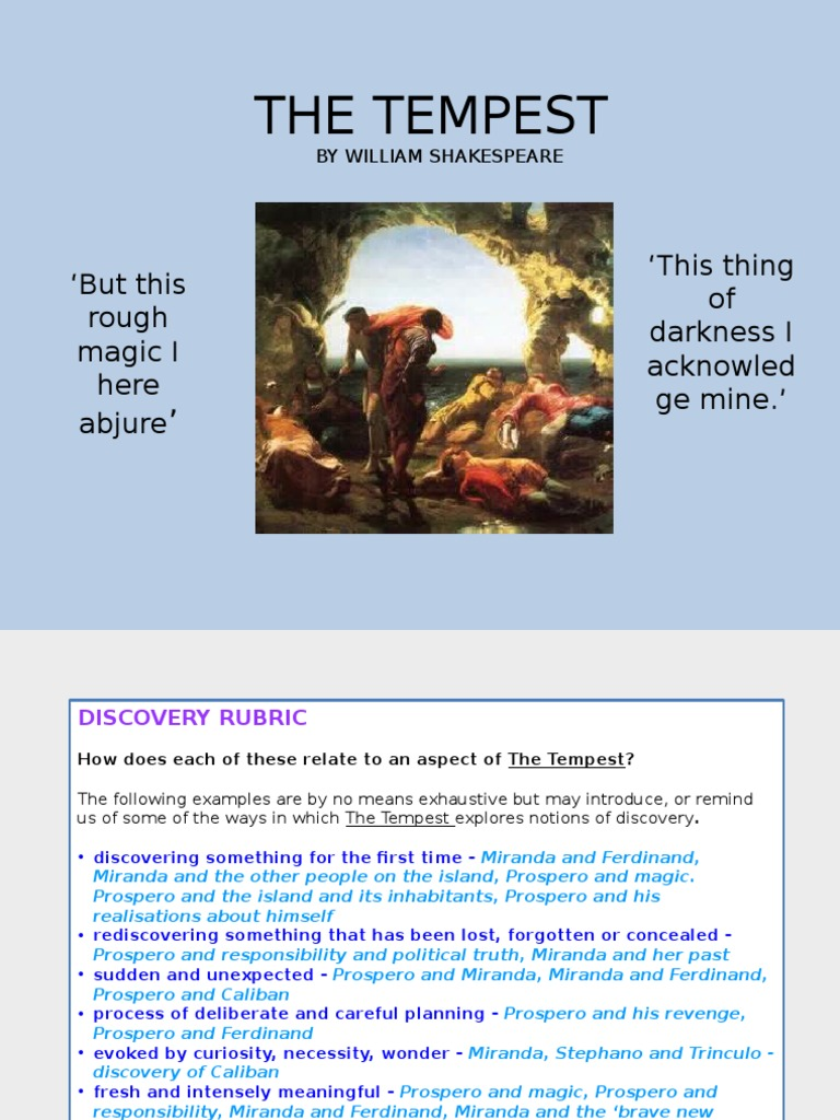 The tempest revision powerpoint the tempest biocorpaavc