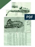 Saxophone Vito Model35 Manual