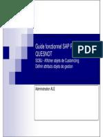 GU_SAP R3_SOBJ - Afficher Objets de Customizing