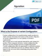 Variant Configuration Training Document