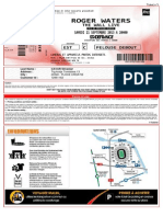 Roger Waters concert ticket