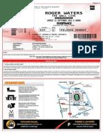 Roger Waters concert ticket