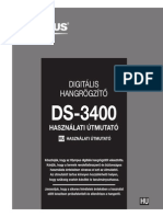 OLYMPUS DS-3400 a Felhasznaloi Kezikonyv