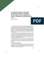 Antonio Nicolau Educación Popular y Educacion de Adultos. La CREAR