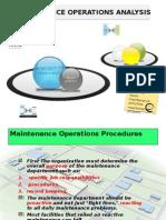 Maintenance Operations Analysis