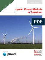 European Power Markets in Transition