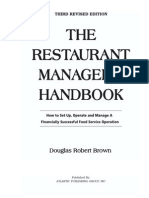 the Restaurant Manager s Handbook Brown