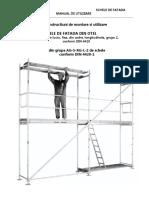 Instructiuni de Montare Si Utilizare a Schelelor 1