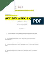 Acc 303 Week 4 Quiz 3