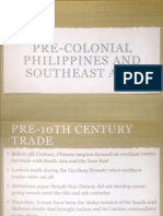 Econ 115 Precolonial Philippines and Southeast Asia, UP School of Economics, Diliman QC