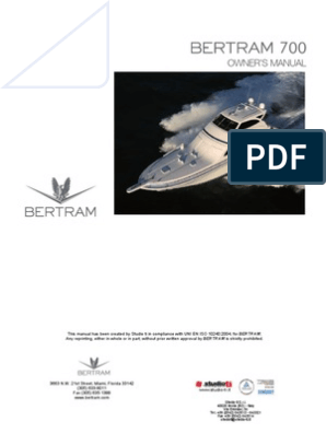 70 Bertram Owners Manual FG | Yacht | Pump