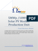 How to Setup 5MW 10MW Solar PV Module Manufacturing Unit - Complete Business Model