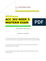 Acc 303 Week 5 Midterm Exam
