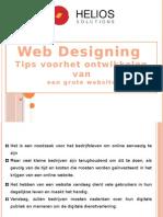 Web Designing Tips voor het ontwikkelen van een grote website